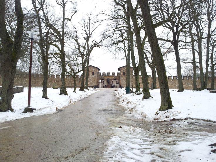 Old Roman Taunus fortress in Bad Homburg