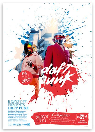 Cool Graphic Design on the Internet, DAFT PUNK. #graphicdesign #poster @ http://www.pinterest.com/alfredchong/graphic-design/