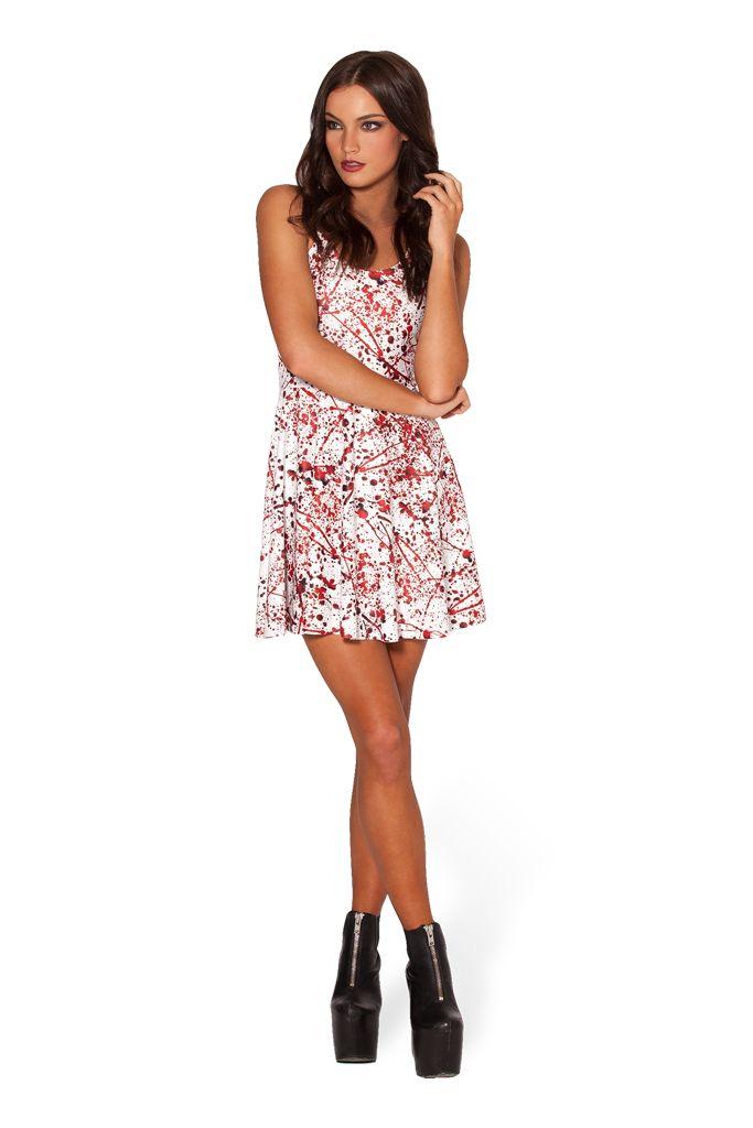 #42 S Blood Splatter Skater Dress (48HR) by Black Milk Clothing (WW)