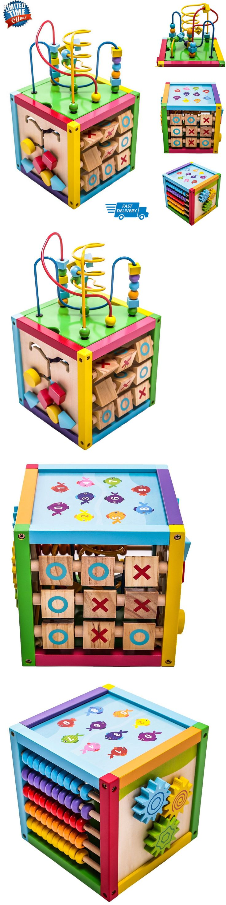 Developmental Baby Toys 100227: Play Cube Activity Center Colorful Wooden Learning Toy Kids Toddler Gift 6 In 1 -> BUY IT NOW ONLY: $41.66 on eBay!