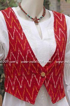 Woven Ikkat Jacket | India1001.com