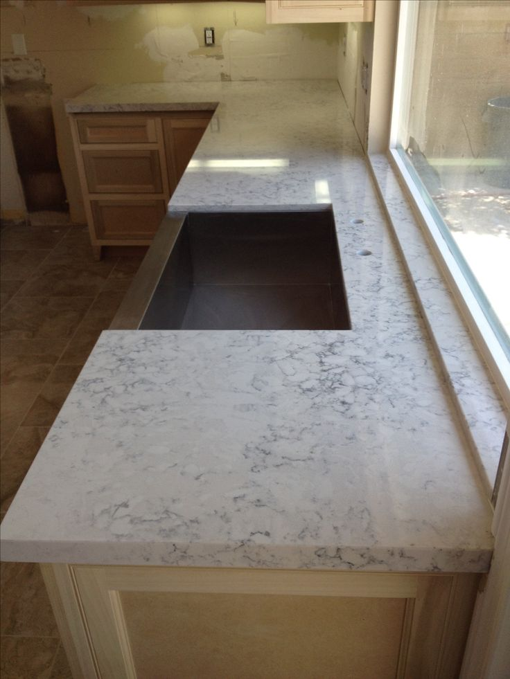 Silestone Helix Looks Like Marble Completed Kitchen