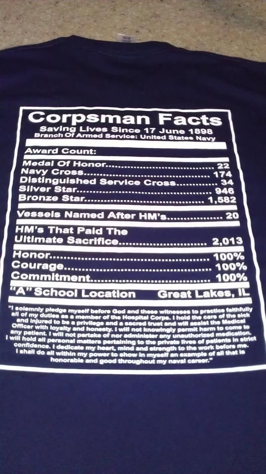 Love this years corpsman shirt from NHCP :) mad I don't have one!