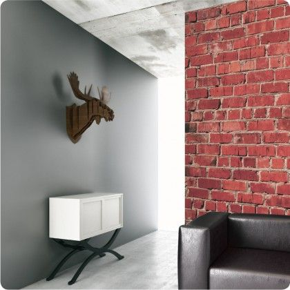 Red Brick removable wallpaper https://www.thewallstickercompany ...