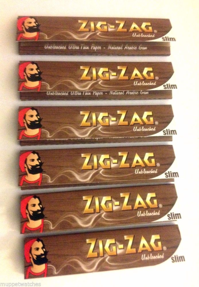 ZIG ZAG UNBLEACHED 'KING SIZE' SLIM Cigarette Tobacco ROLLING PAPERS