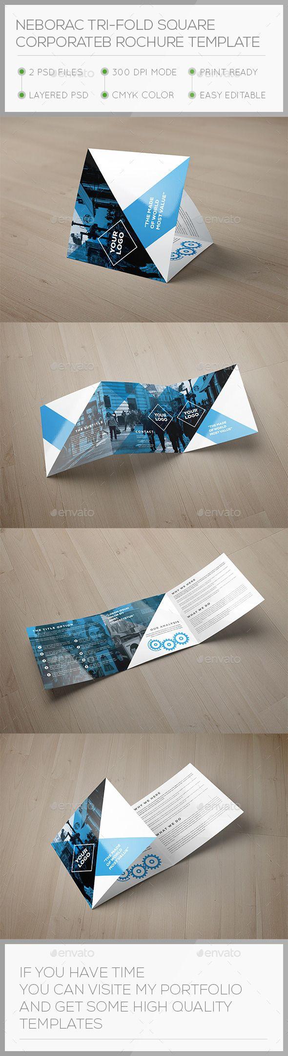 Nerorac Tri-fold Square Brochure Template #design #broschüre Download: http://graphicriver.net/item/nerorac-trifold-square-brochure-template/12499669?ref=ksioks