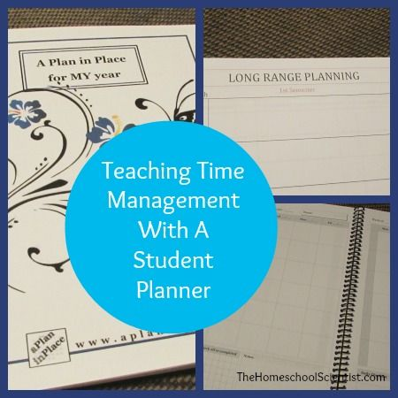 Teach Time Management with a Student Planner