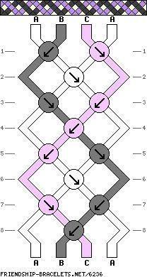 Simple DNA Strand Science Friendship Bracelet Tutorial DIY Instructions Pattern - #braceletpatterns
