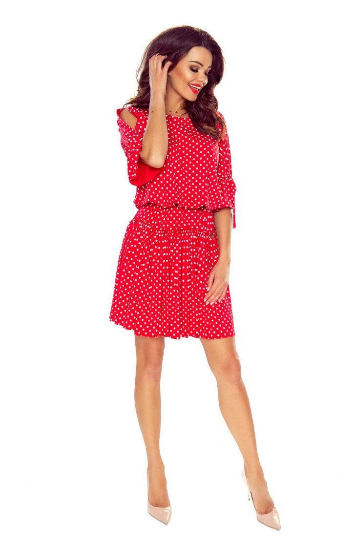Zwiewna Sukienka Z Gumka W Pasie Czerwona Be100 07 Fashion Mini Dress Red Dress