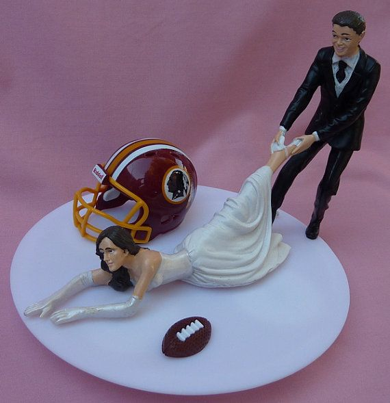 Check this on out Stephanie    Wedding Cake Topper Washington Redskins G Football by WedSet, $59.99