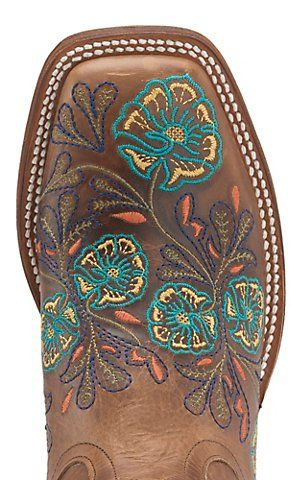 not sure i like the whole boot embroidered, but i do like the toe.  Anderson Bean Macie Bean Women's Whiskey Brown w/ Multicolor Floral Embroidery Square Toe Boots | Cavender's