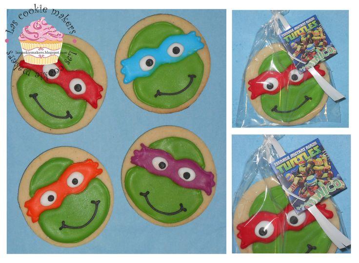 NINJA TURTLES COOKIES GALLETAS DE LAS TORTUGAS NINJAS lascookiemakers@gmail.com