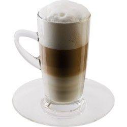 Termékleírás  2 db-os Latte Machiato csésze készlet csészealjjal Üvegből készült Magasság: 14 cm Átmérő: 7 cm