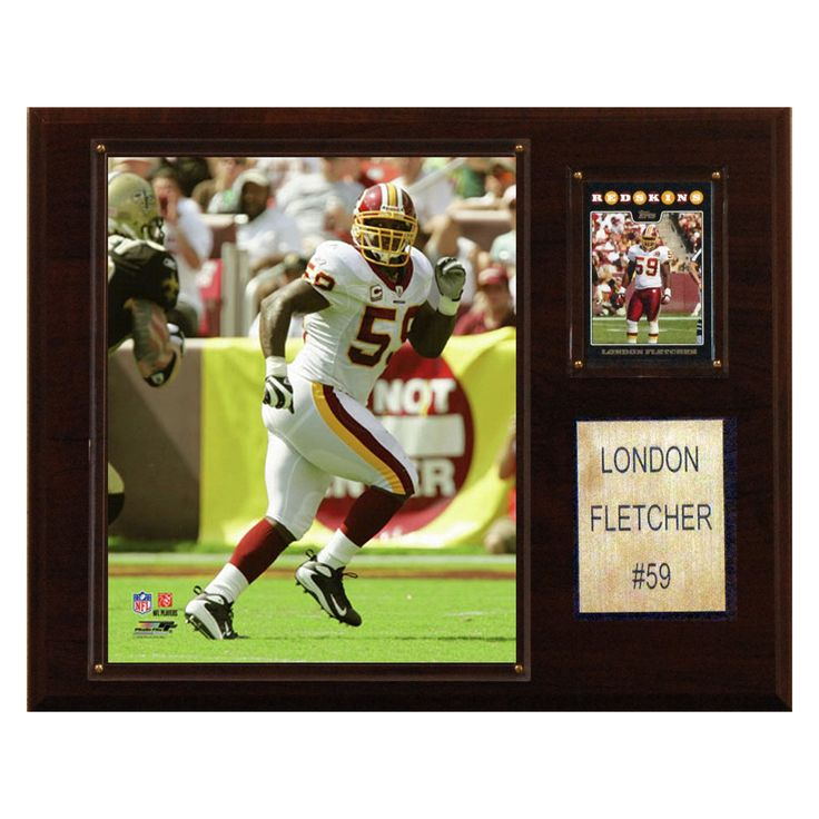 NFL 12 x 15 in. London Fletcher Washington Redskins Player Plaque - 1215LFLETCH