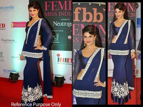 Jacqueline Blue Bollywood Lehenga | Veeshack Shop