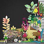 Amy Martin- August template freebie Jacque Larsen- Garden Fairy Friends Allison Pennington- Summer Fades Away collab Lynne Marie- Artsy Bits