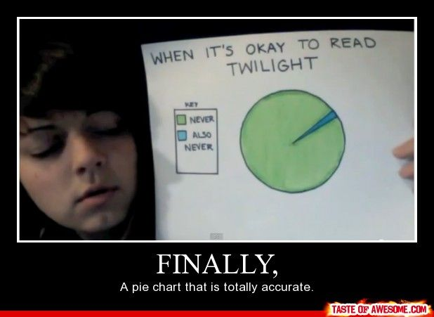 Twilight pie chart. A thousand points to this kid. Of course, this is the internet, where points don't matter...but whatever.