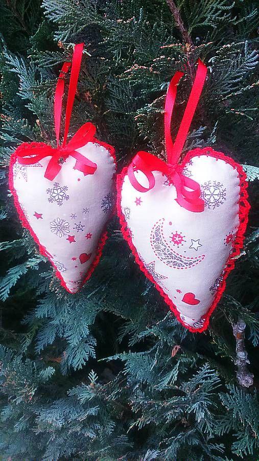 kreatiwik / Vianočné srdiečka-obháčkované