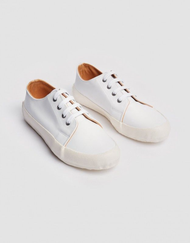Low Side Leather Trainer (white)