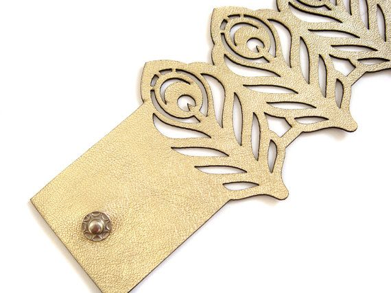 Love this cut leather jewelry from EmilydeMolly (Etsy)