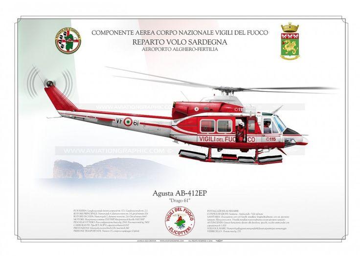 AB-412EP VF-61 VIGILI DEL FUOCO JP-1554