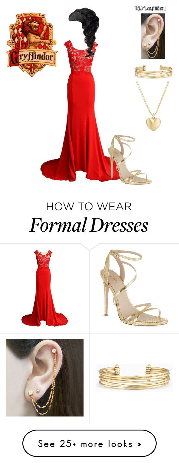 """""""Gryffindor Yule Ball"""" by thehalfbloodtimelord on Polyvore featuring Embers Gemstone Jewellery, Carvela, Stella & Dot, Finn and charlotteofsandydownstaglist"""