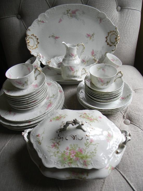 Limoge China Set & 1060 best Antique Fine China Limoges images on Pinterest | Dish sets ...