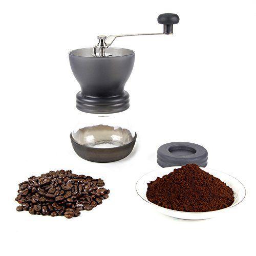 Teika Manual Ceramic Burr Espresso Coffee Grinder, Hand-crank Coffee Mill, Black - http://teacoffeestore.com/teika-manual-ceramic-burr-espresso-coffee-grinder-hand-crank-coffee-mill-black/