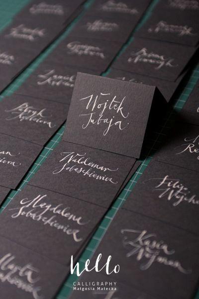 blackies by HELLO calligraphy . Małgosia Małecka.