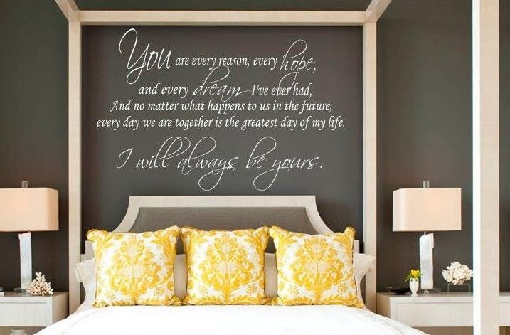 I WILL ALWAYS BE YOURS -  THE NOTEBOOK Quote Vinyl Lettering Words Decal 36"
