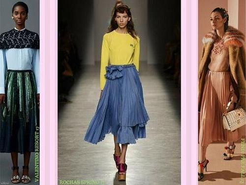 Your wardrobe can't miss a pleated skirt. #ssCollective #shopstylecollective #myshopstyle #fashiontrend #fashion #trend #inspiration #plissé #pleated #skirt