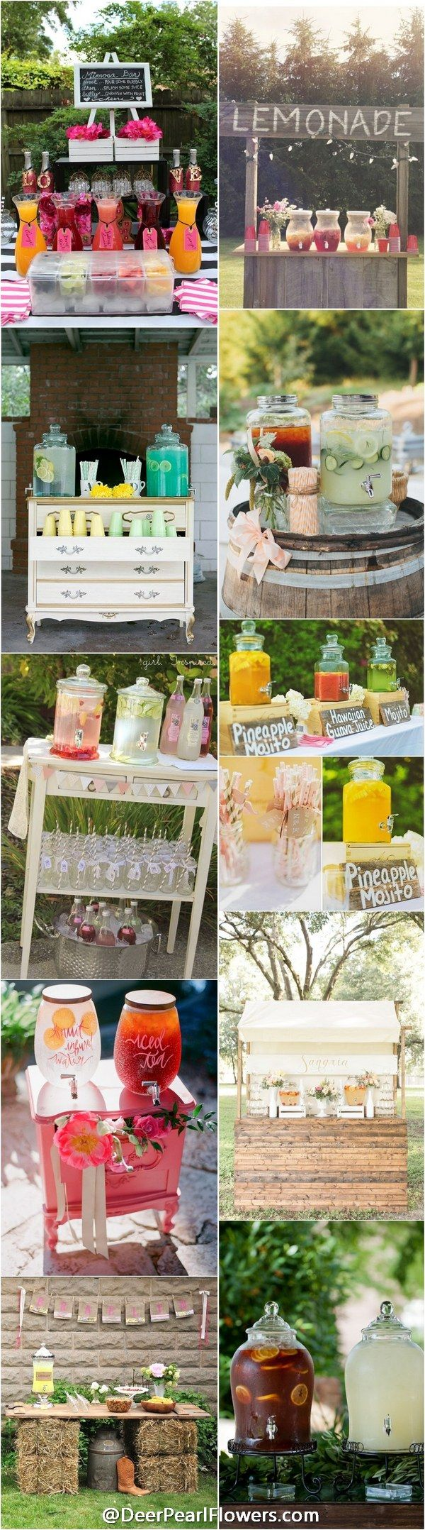 rustic country wedding ideas - rustic country wedding drink bar / http://www.deerpearlflowers.com/wedding-drink-bar-station-ideas/