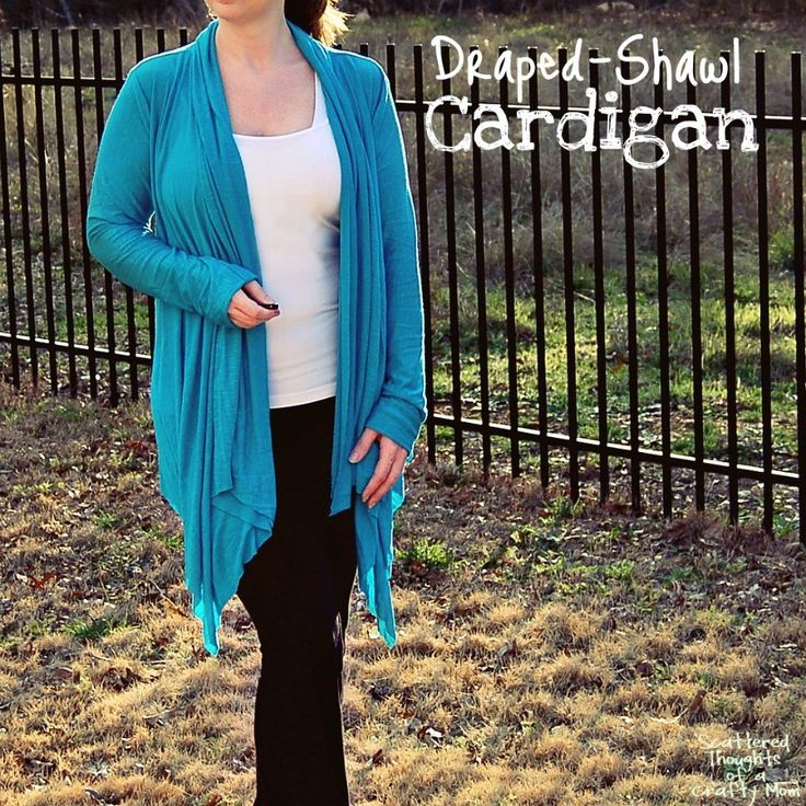 DIY: draped shawl cardigan