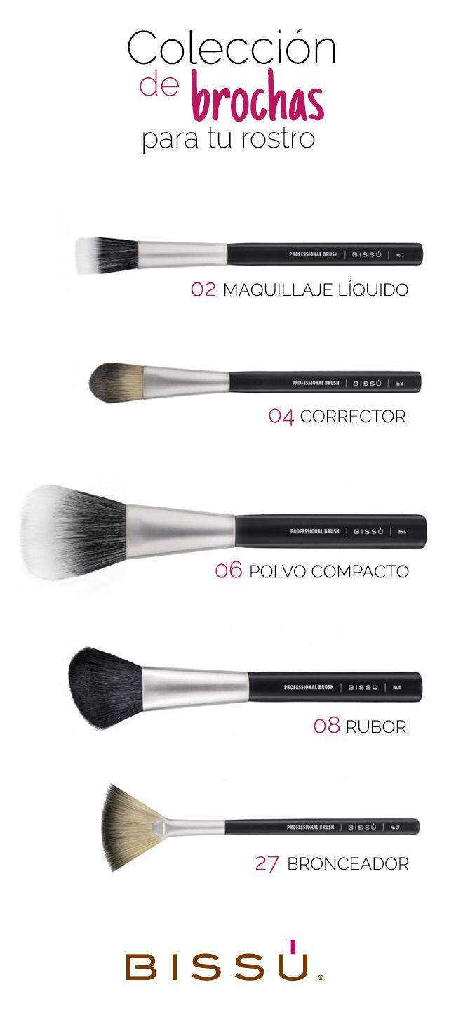 Conoce las brochas para rostro que no te deben faltar. http://tiendaweb.bissu.com/42-rostro