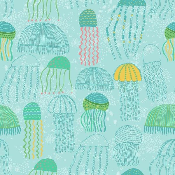 floating jellyfish for Spoonflower by Jeanne Mcgee.: Jellyfish Wall, Patterns, Spoonflower, Art, Photo Shared, Decoupage Jellyfish, Lessons Ideas, Jellyfish Floating, Floating Jellyfish
