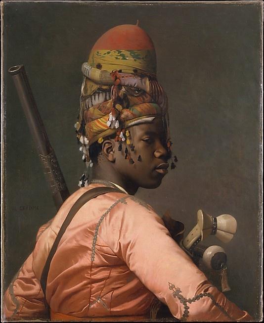Bashi-Bazouk Jean-Léon Gérôme (French, Vésoul 1824–1904 Paris) Date: 1868–69 Medium: Oil on canvas Dimensions: 31 3/4 x 26 in. (80.6 x 66 cm)