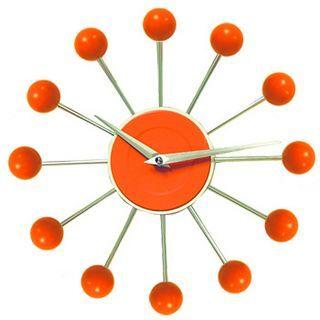 Mod •~• vintage(?) orange wall clock