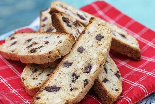 Italian Food Forever » Dark Chocolate Chunk Almond Biscotti