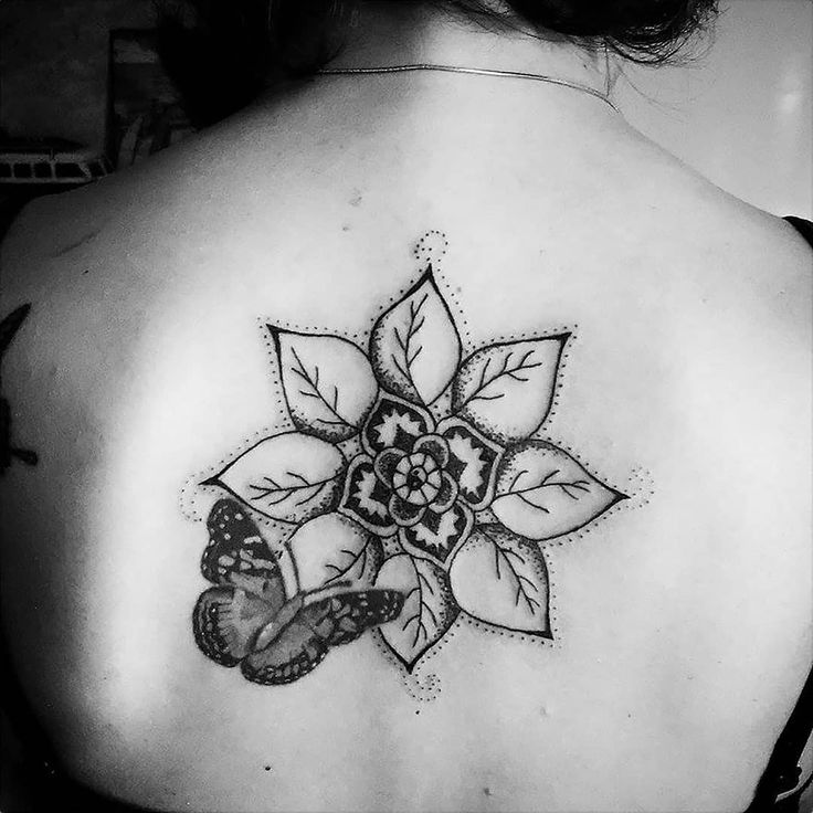 Tattoo by ZM Free Spirit Artist  http://www.manonzampieri.com  Mandala - Papillon - Dotwork - Tattoo girl - Dos   -TATTOO -   Everything is just few seconds at the end !   #freespirit #creativemadness
