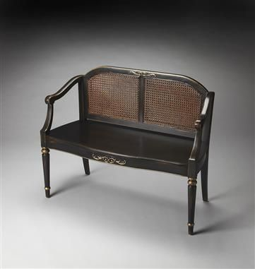 Shop For Butler Specialty Company Grayson European Black Painted Bench, And  Other Living Room Benches At Schmitt Furniture Company In New Albany, IN.