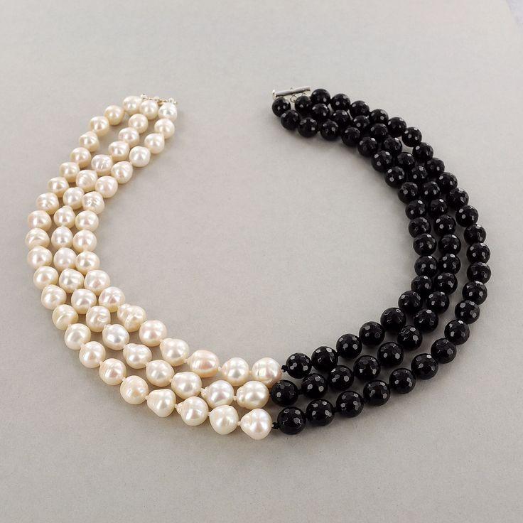 Perlas negras y blancas Bisutería, De Perlas, Bisuteria, Collares De, Accesorios