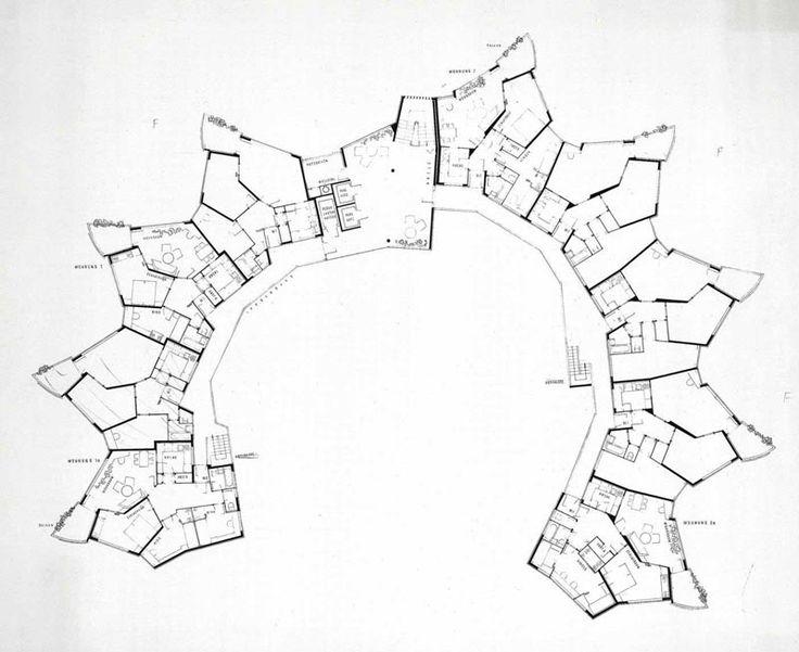 Hans Scharoun | Residencial Romeo & Julieta | Stuttgart, Alemania | 1959