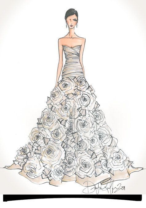 This is such a wonderful idea !  I love this !! ! !  Custom Bridal Illustration __ Etsy $145