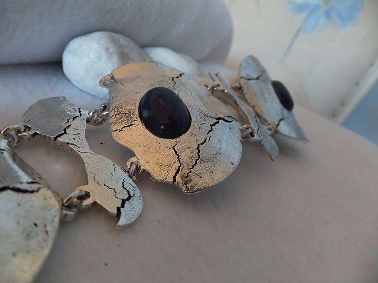 Anica bijoux Bracelet argenté et sodalite