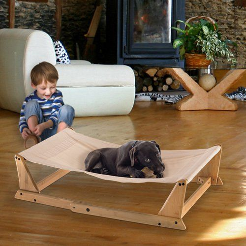 Richell Take Bamboo Foldable Pet Hammock - A modern, casual alternative to a pet bed, the Richell Take Bamboo Foldable Pet Hammock lets your dog, cat, or other house-pet lounge comfortably anyw...