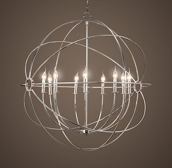 Alternate Entryway Light We Can Discuss Scale Size Foucault S Iron Orb Entry Chandelierdining Room Chandelierslarge