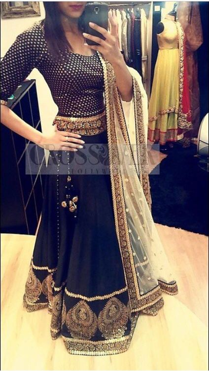 Luxe lehnga piece by Crossover Bollywood.