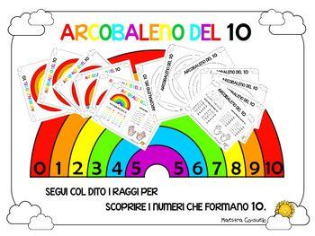 Attivit a colori e in bianco e nero, fotocopiabile, per l'acquisizione del concetto di composizione del 10.