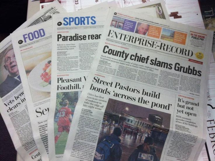 Redesign of the Enterprise-Record and Oroville Mercury-Register