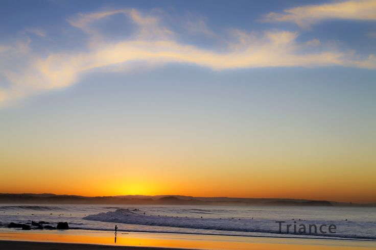 Sunset over Rainbow Bay.
